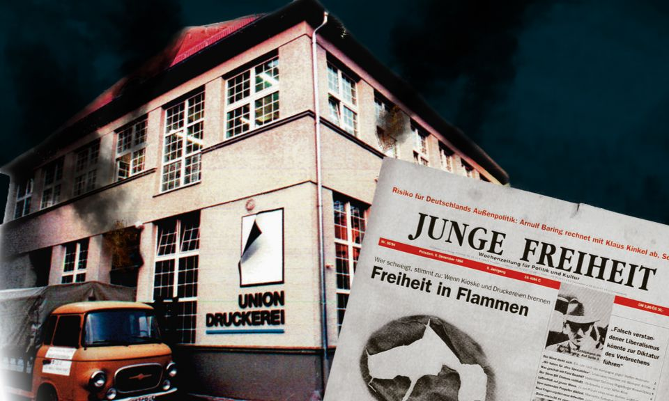 Brandanschlag auf JF-Druckerei