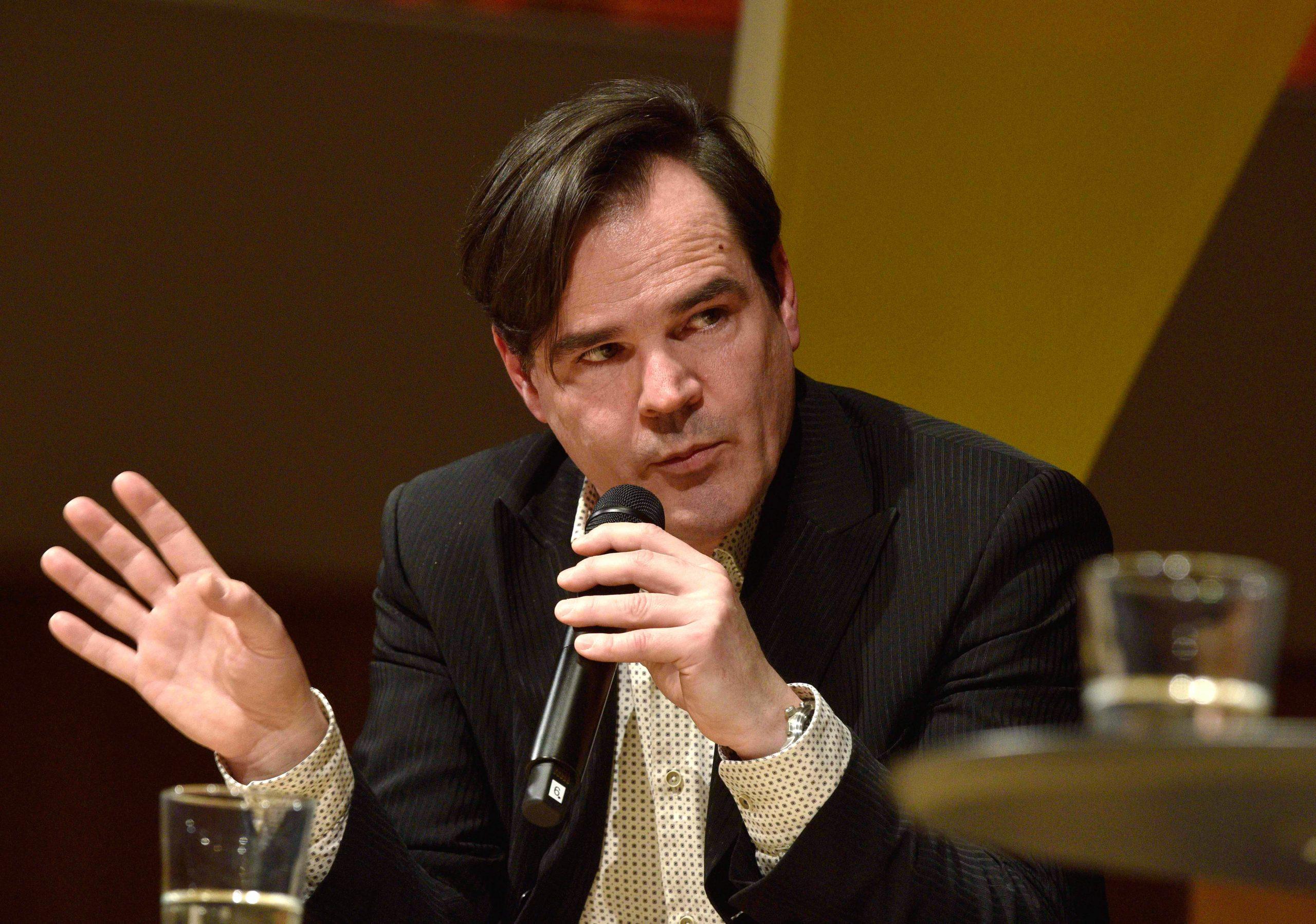 Der Schriftsteller Uwe Tellkamp während einer Diskussionsveranstaltung (Archivbild) Foto: (c) dpa