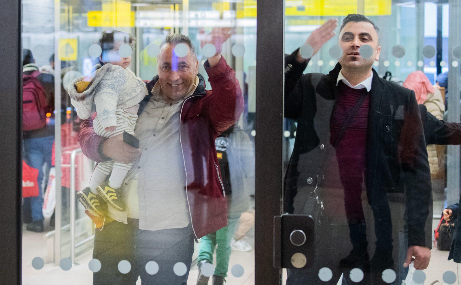 Migranten auf Flughafen Hannover