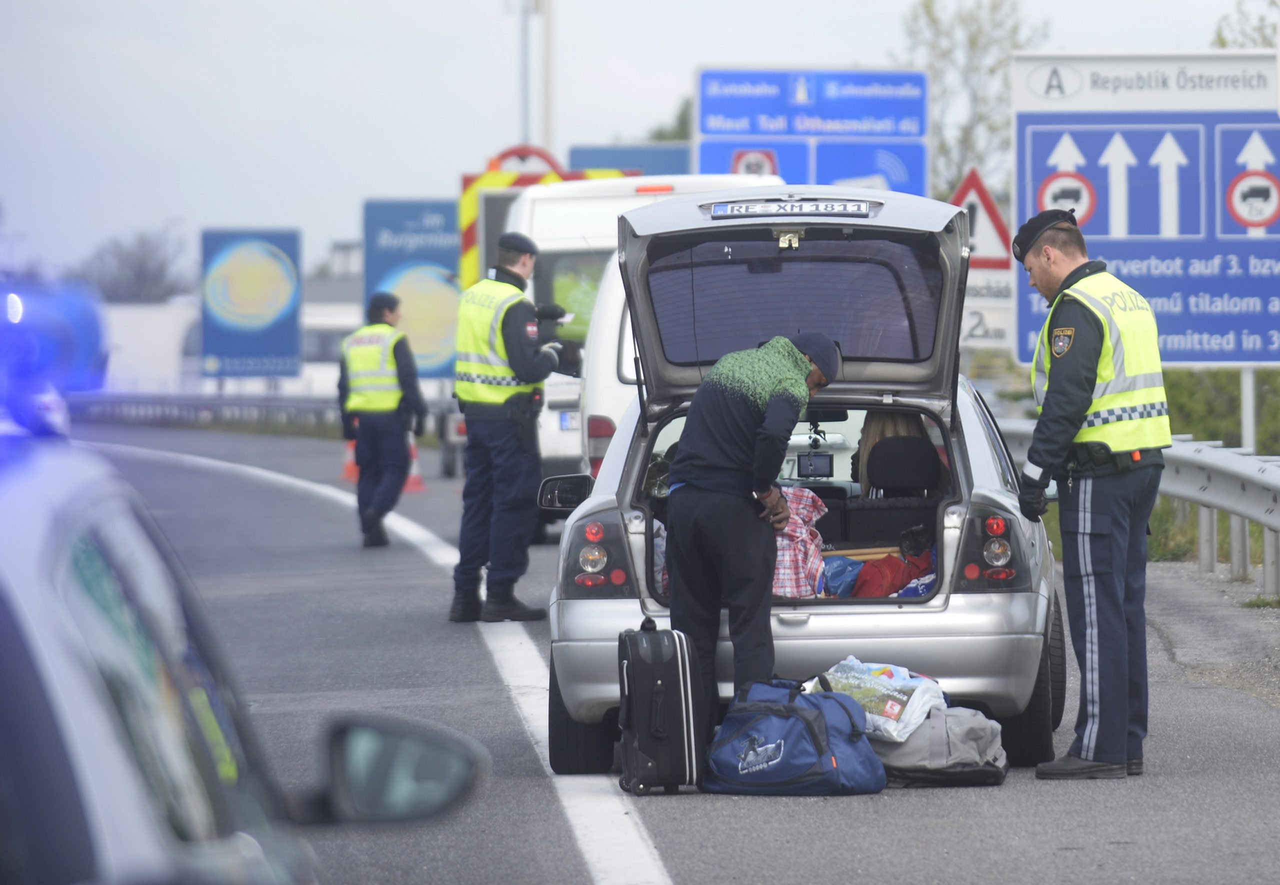 Grenzkontrollen im Burgenland (Archivbild) Foto: picture alliance/APA/picturedesk.com