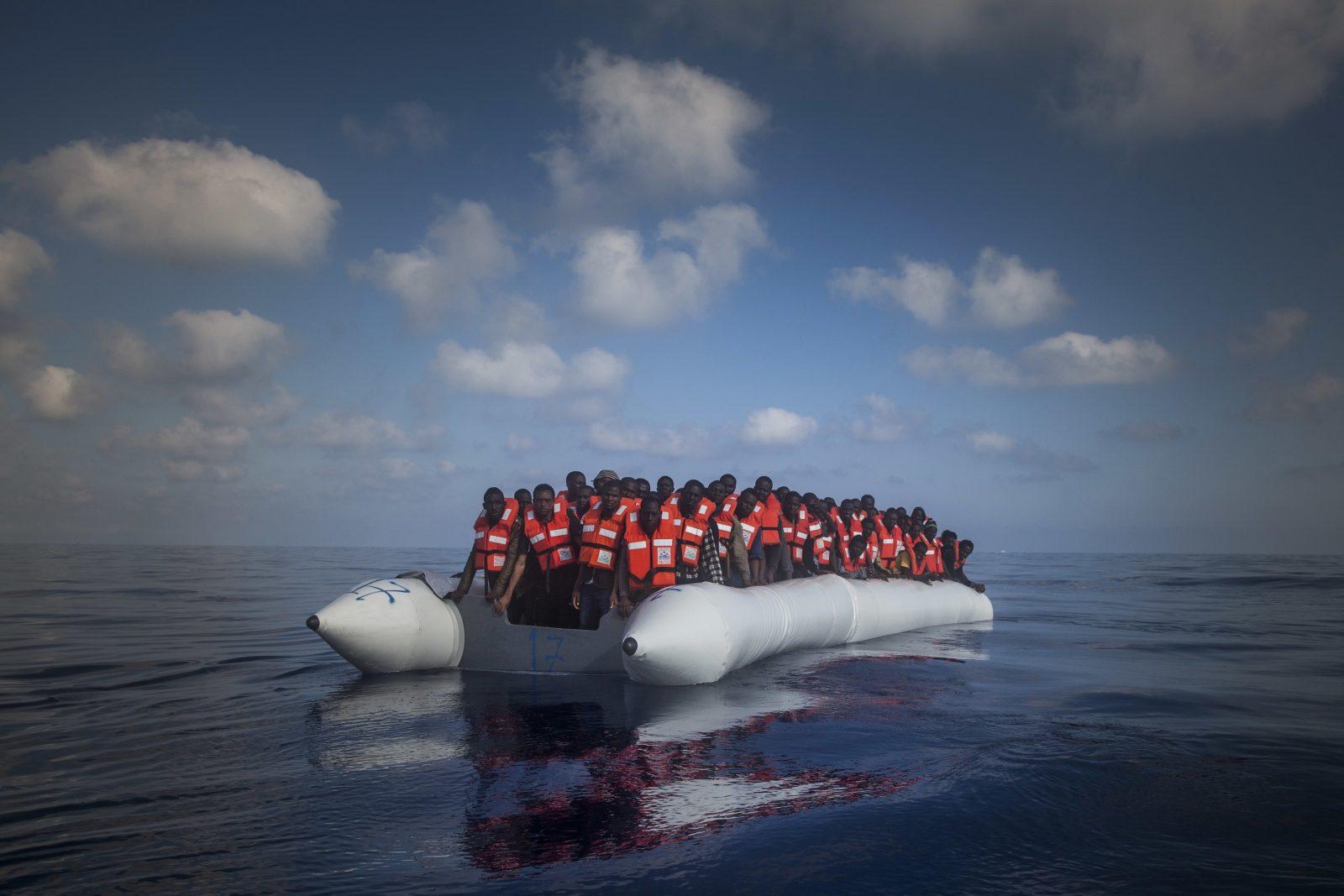 Migranten auf Mittelmeer