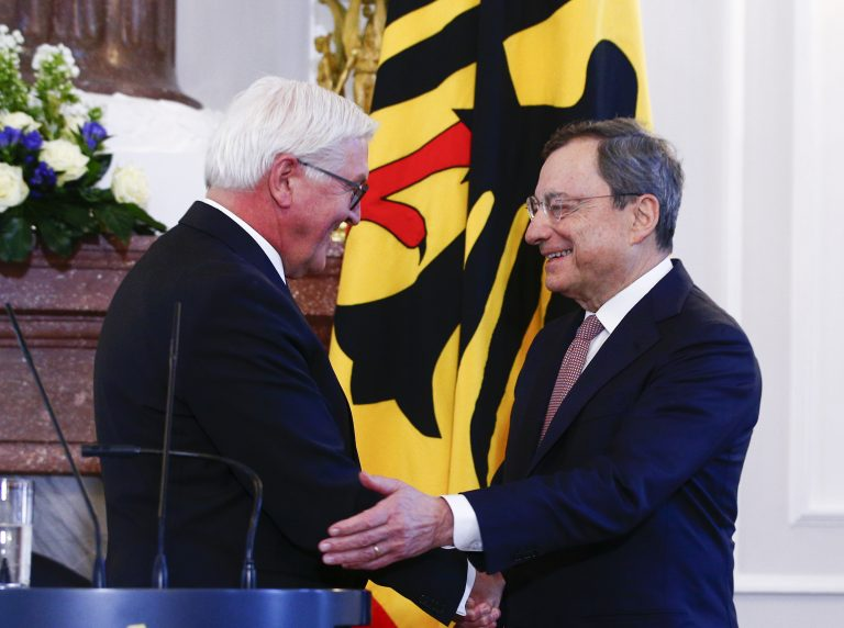 German President Steinmeier awards Mario Draghi with the Federal Cross of Merit