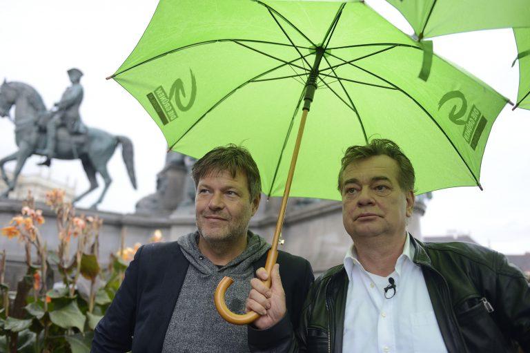 Werner Kogler und Robert Habeck, die Grünen