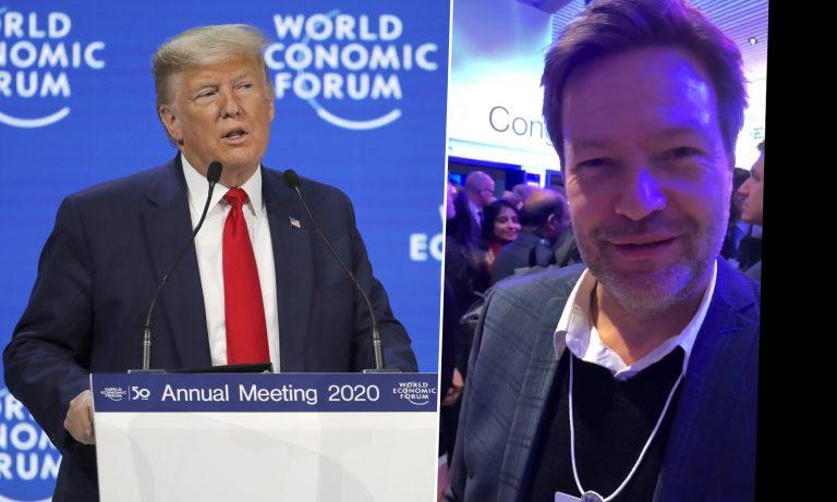 oto: Donald Trump (l.) und Robert Habeck