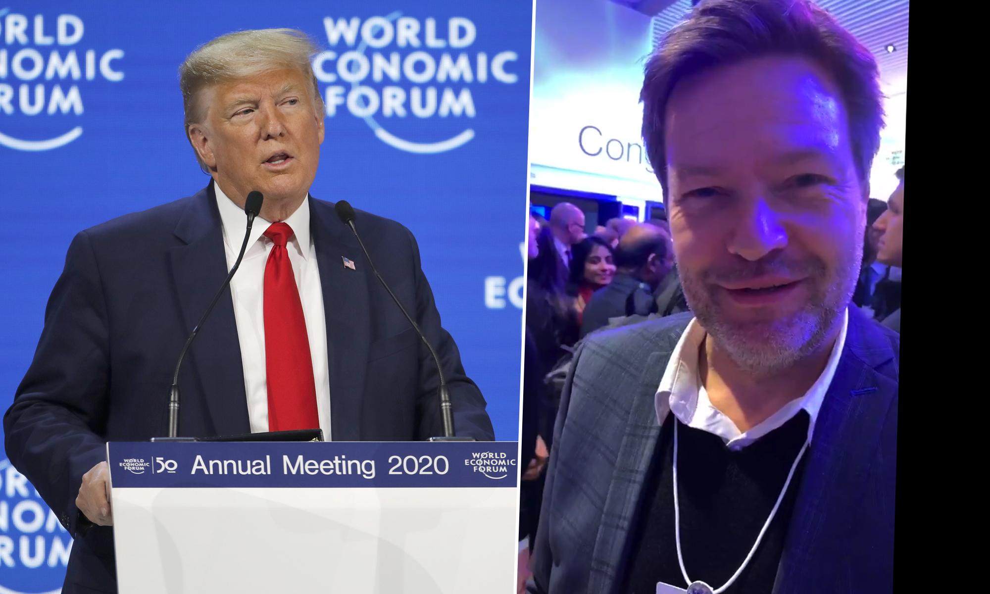"""Foto: Donald Trump (l.) und Grünen-Chef Robert Habeck: """"Nur Selbstlob, Ignoranz, Mißachtung von allen Leuten"""" picture alliance / AP Photo / Twitter-Screenshot / JF-Montage"""