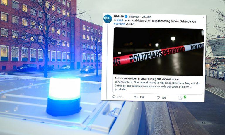 Anschlag in Kiel, NDR-Tweet