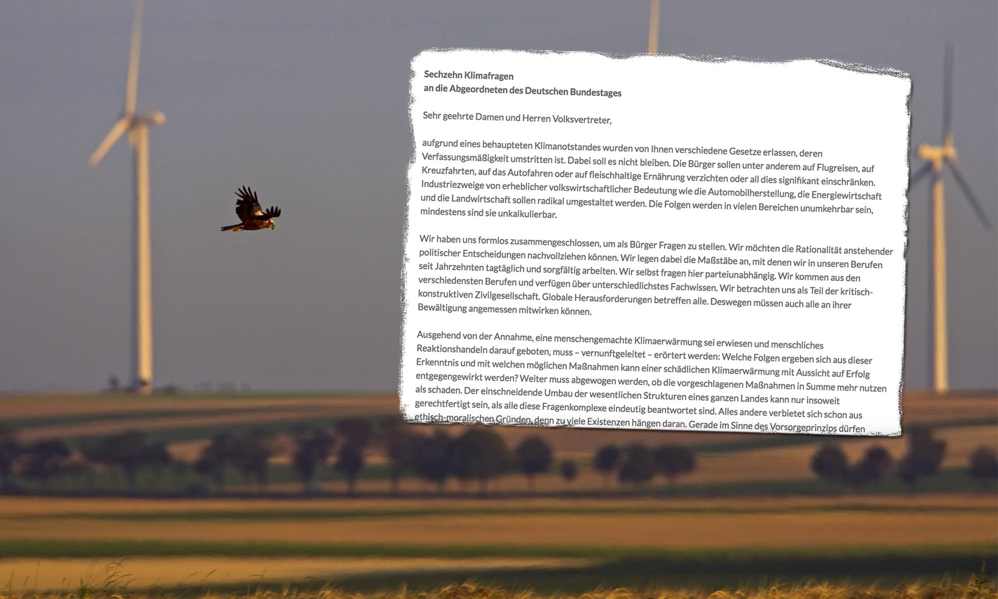 """Neue Petition gestartet: 16 """"Klimafragen"""" an den Bundestag"""