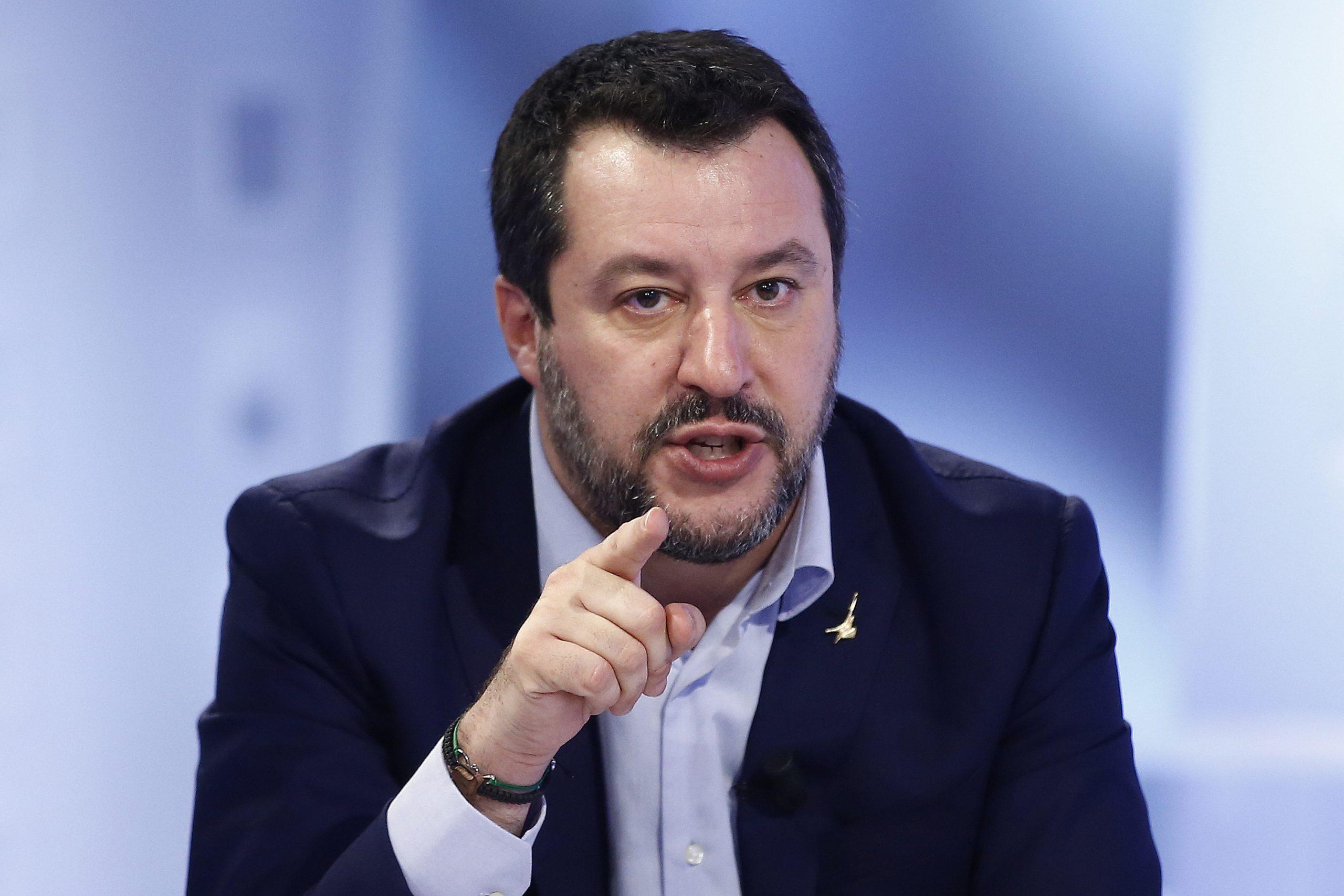 Matteo Salvini (Lega): Soll der Prozeß gemacht werden Foto: picture alliance/ZUMA Press