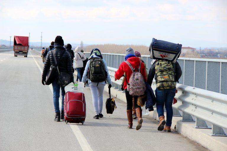 Illegale Einwanderer im türkischen Grenzort Edirne Foto: picture alliance / AA