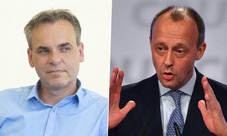 Frank Überall (l.) und Friedrich Merz