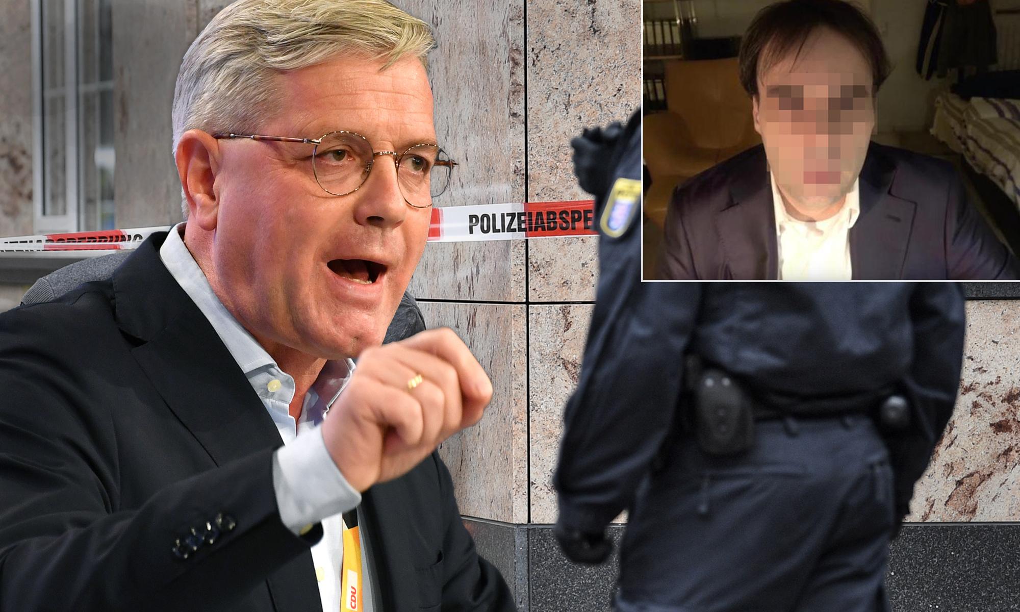 Norbert Röttgen (CDU, l.), Tatort in Hanau
