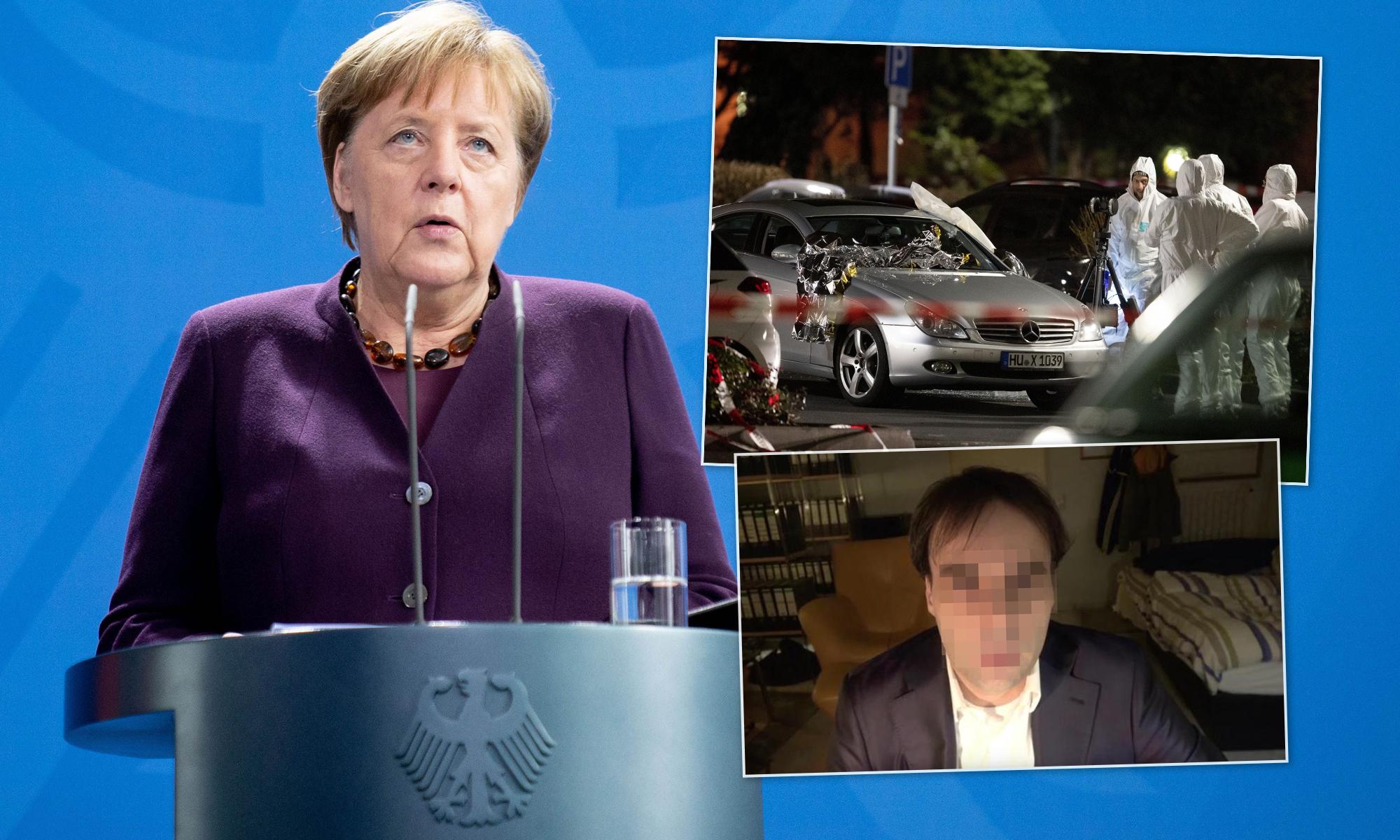 Angela Merkel (CDU), Tatort und mutmaßlicher Täter von Hanau