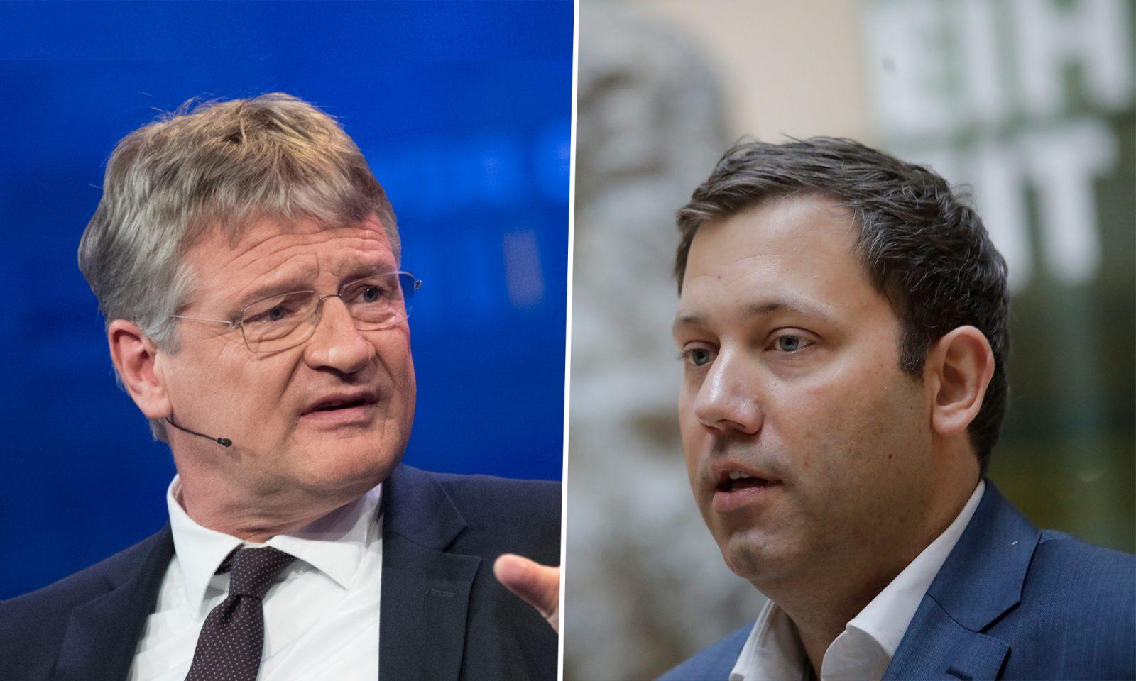 Jörg Meuthen (AfD) und Lars Klingbeil (SPD)