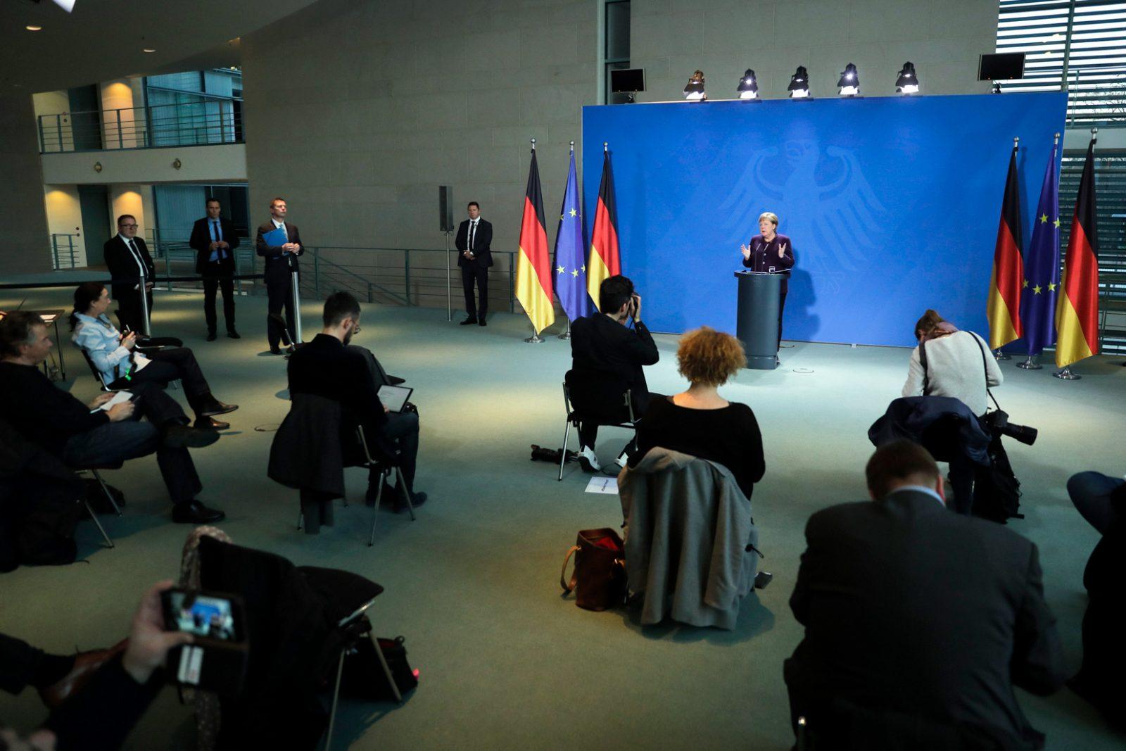 Pressekonferenz mit Angela Merkel (CDU)