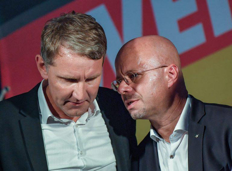 Björn Höcke (l.) und Andreas Kalbitz