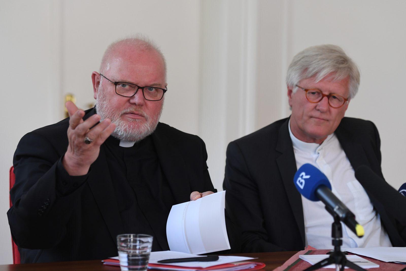 Kardinal Reinhard Marx (l.) und Heinrich Bedford-Strohm