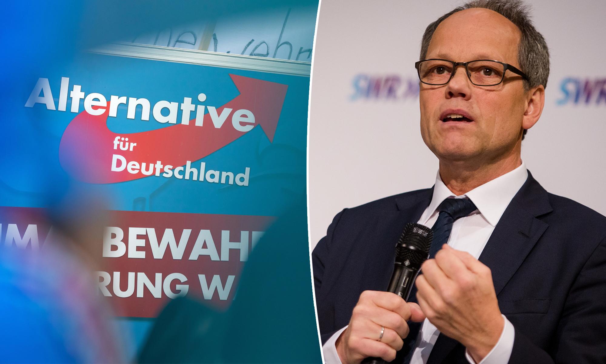"""SWR-Intendant Kai Gniffke: """"Das Vertrauen hat zugenommen""""  picture alliance/Christoph Schmidt/dpa / picture alliance / JF-Montage"""