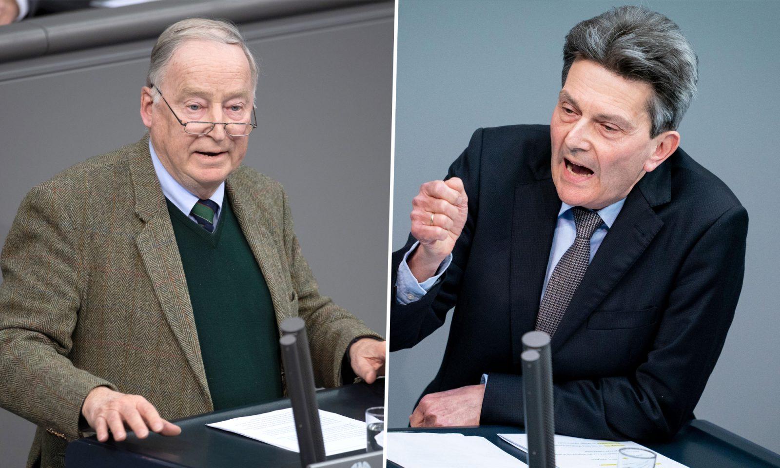 Alexander Gauland (AfD, l.) und Rolf Mützenich (SPD)