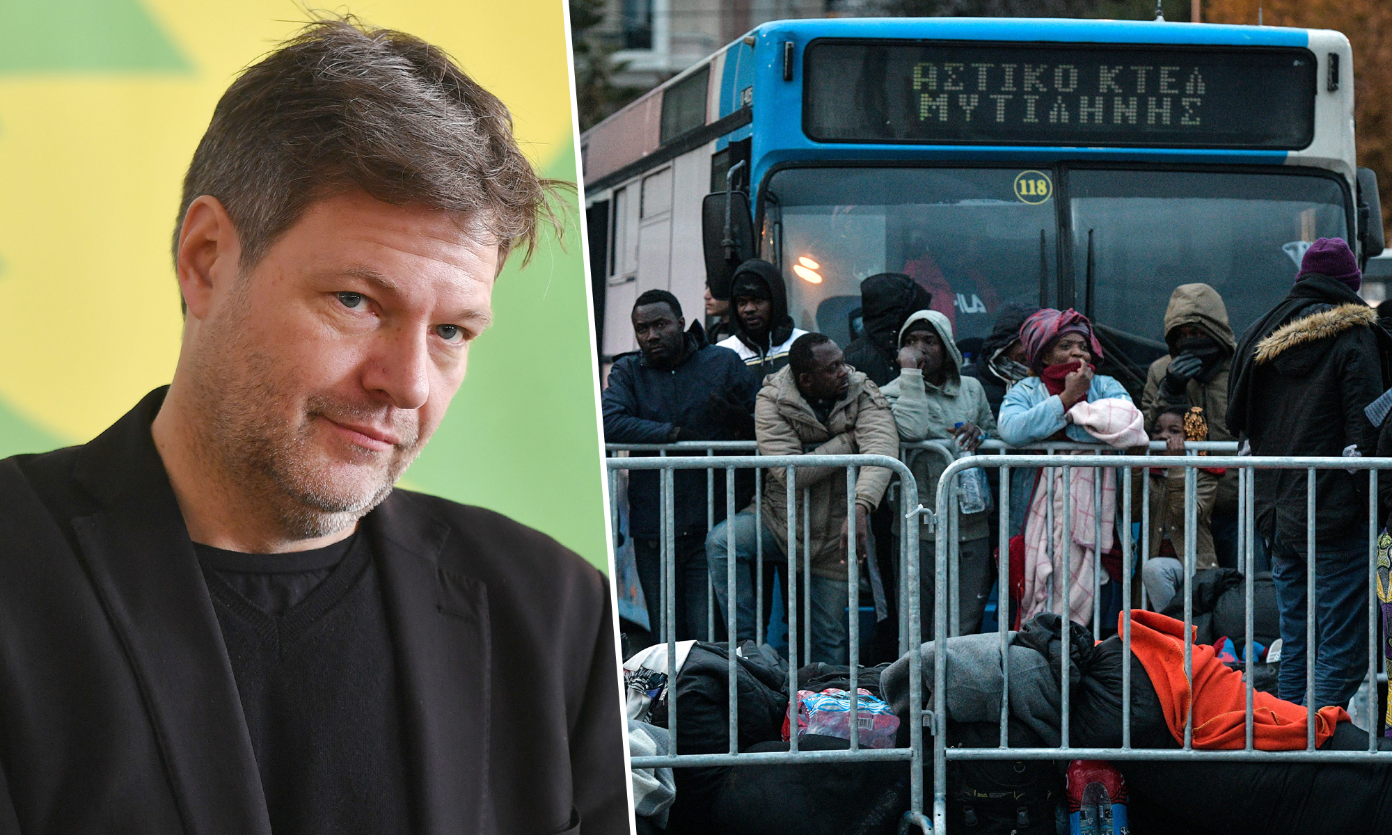 Grünen-Chef Robert Habeck, Asylsuchende auf Lesbos