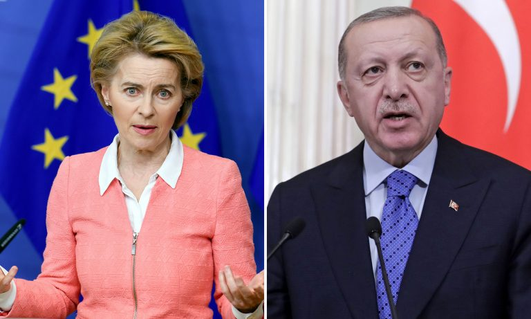Ursula von der Leyen, Recep Tayyip Erdogahn