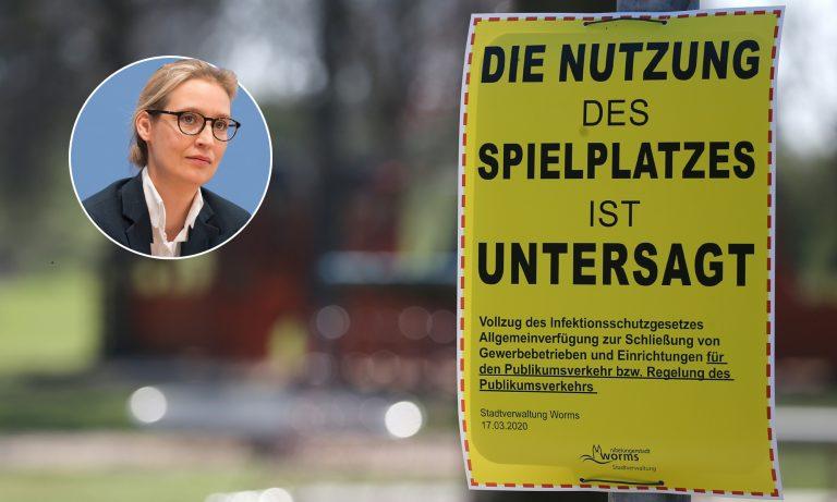 Alice Weidel (AfD), gesperrter Spielplatz