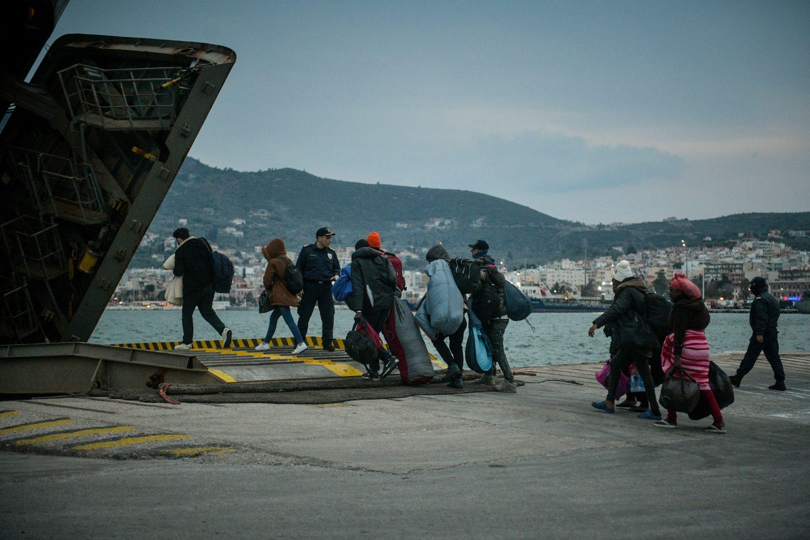 Migranten auf Lesbos