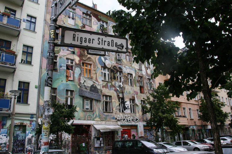 Besetzte Häuser in der Rigaer Straße