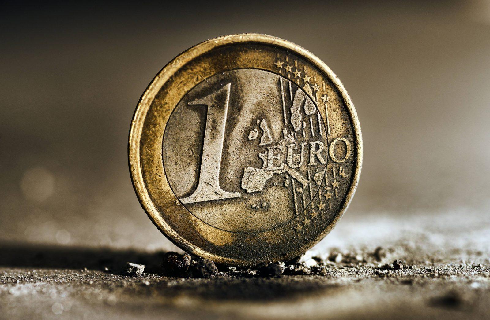 Angebrannte Euro-Münze