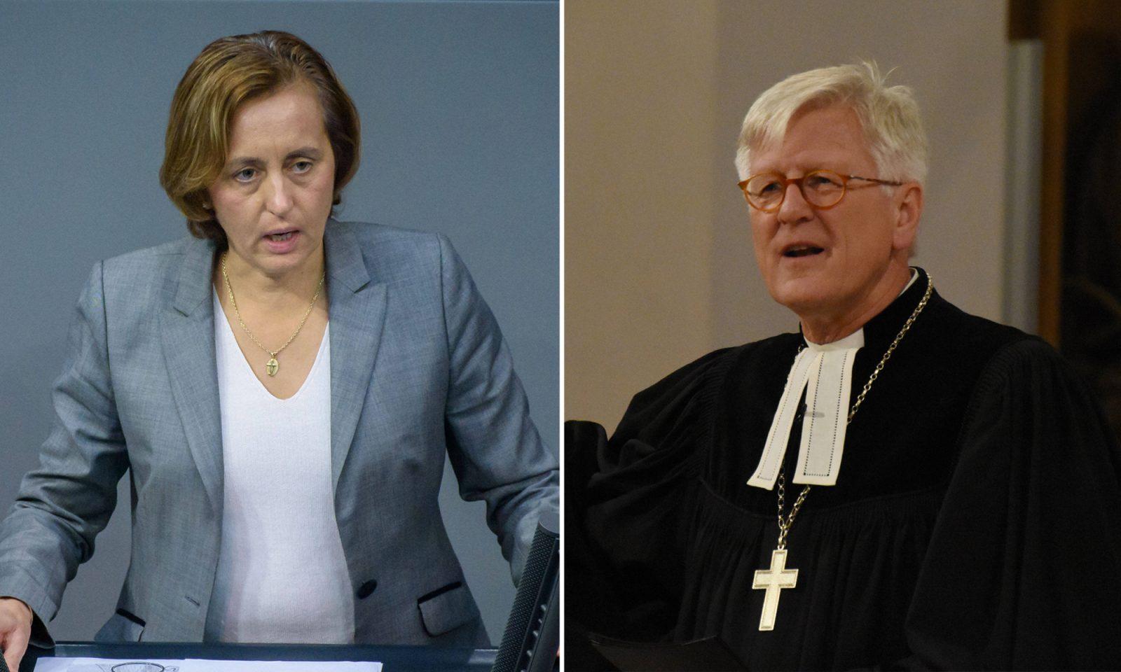 Beatrix von Storch (AfD) und Heinrich Bedford-Strohm