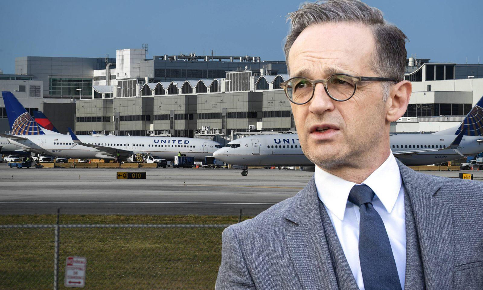 Außenminister Heiko Maas (SPD), Flughafen Miami