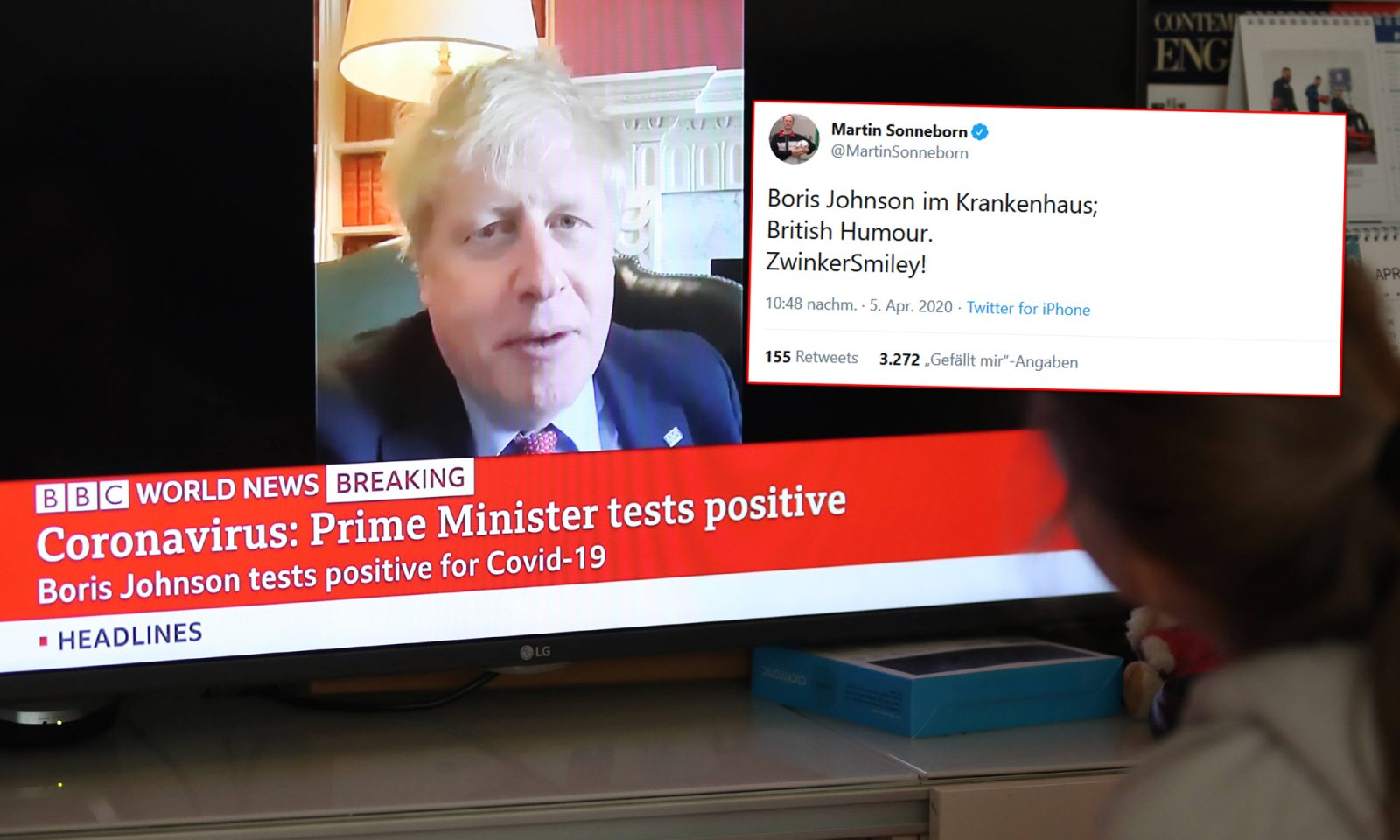 Boris Johnson, Tweet Martin Sonneborn