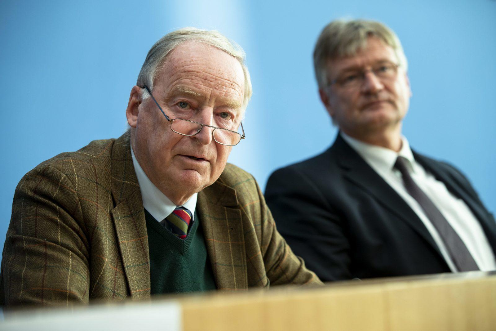 Alexander Gauland (l.) und Jörg Meuthen (beide AfD)