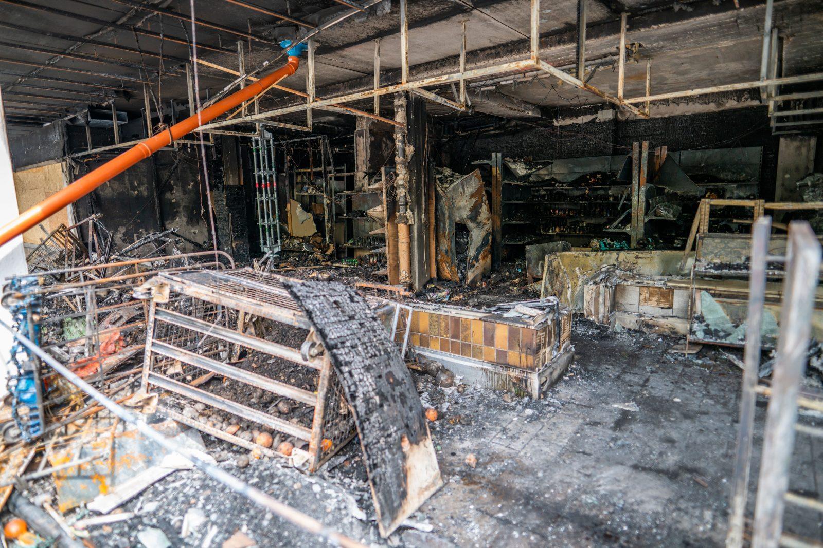 Nach Brand von türkischem Geschäft in Waldkraiburg