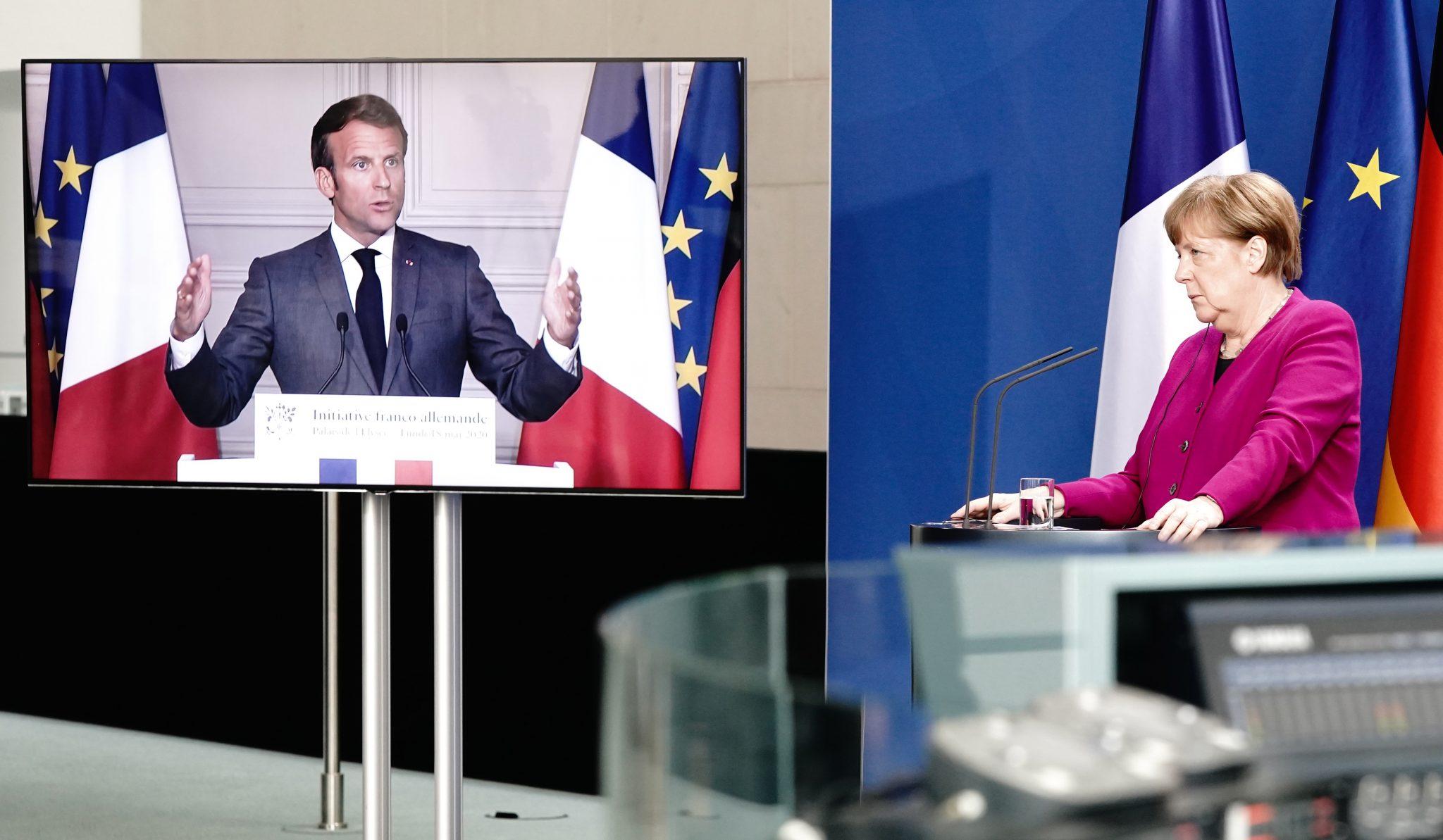 Angela Merkel (CDU) und Emmanuel Macron (En Marche)
