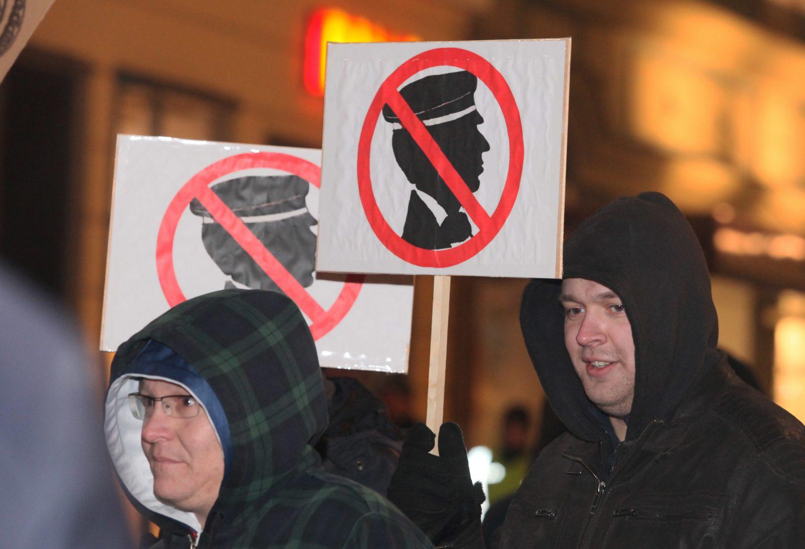 Demonstration gegen Studentenverbindungen