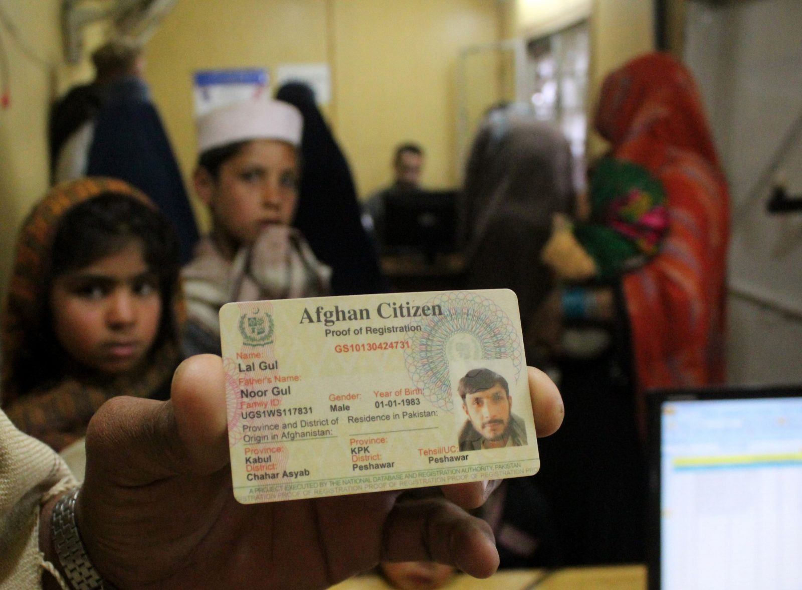 Afghanischer Flüchtling