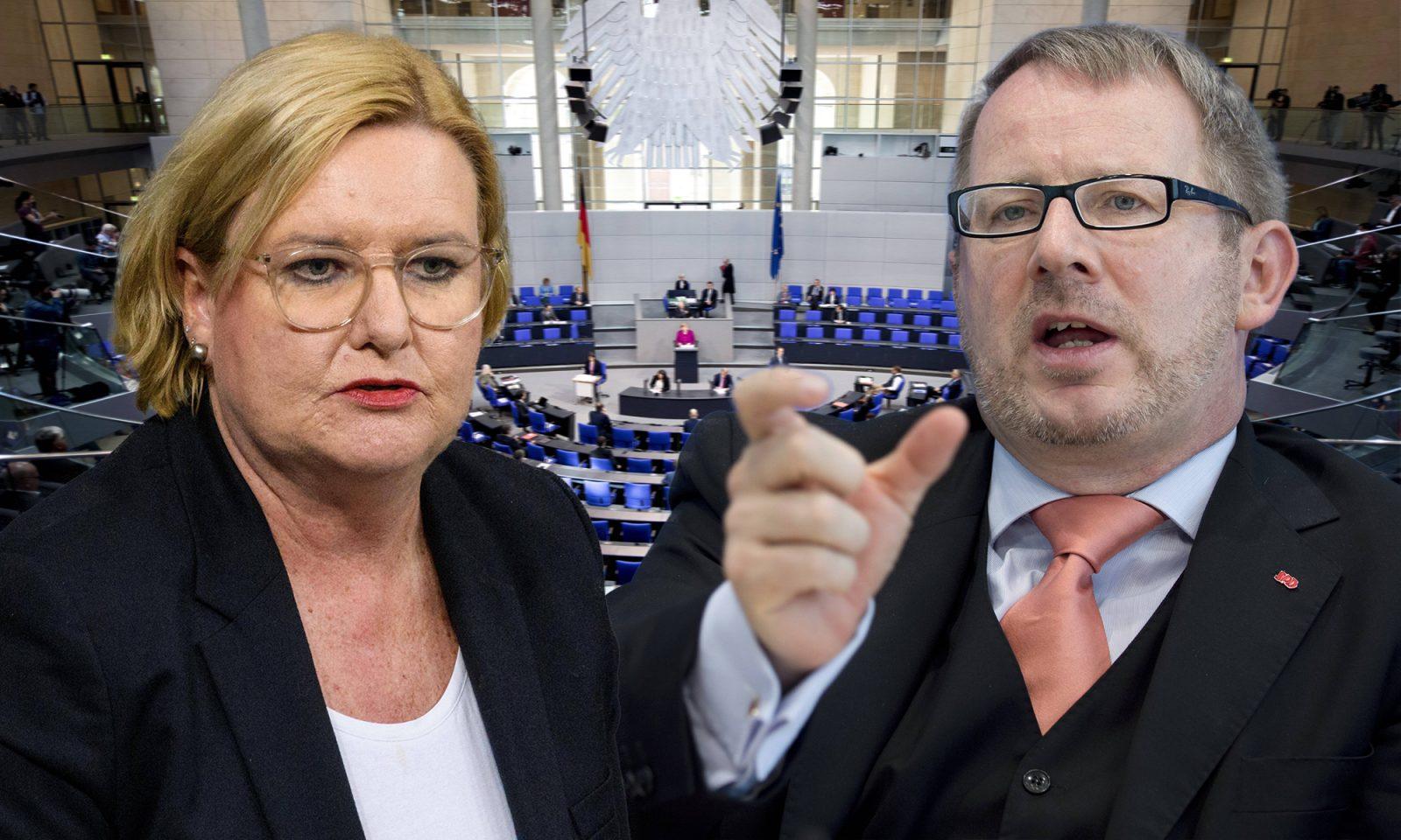Eva Högl und Johannes Kahrs (beide SPD)
