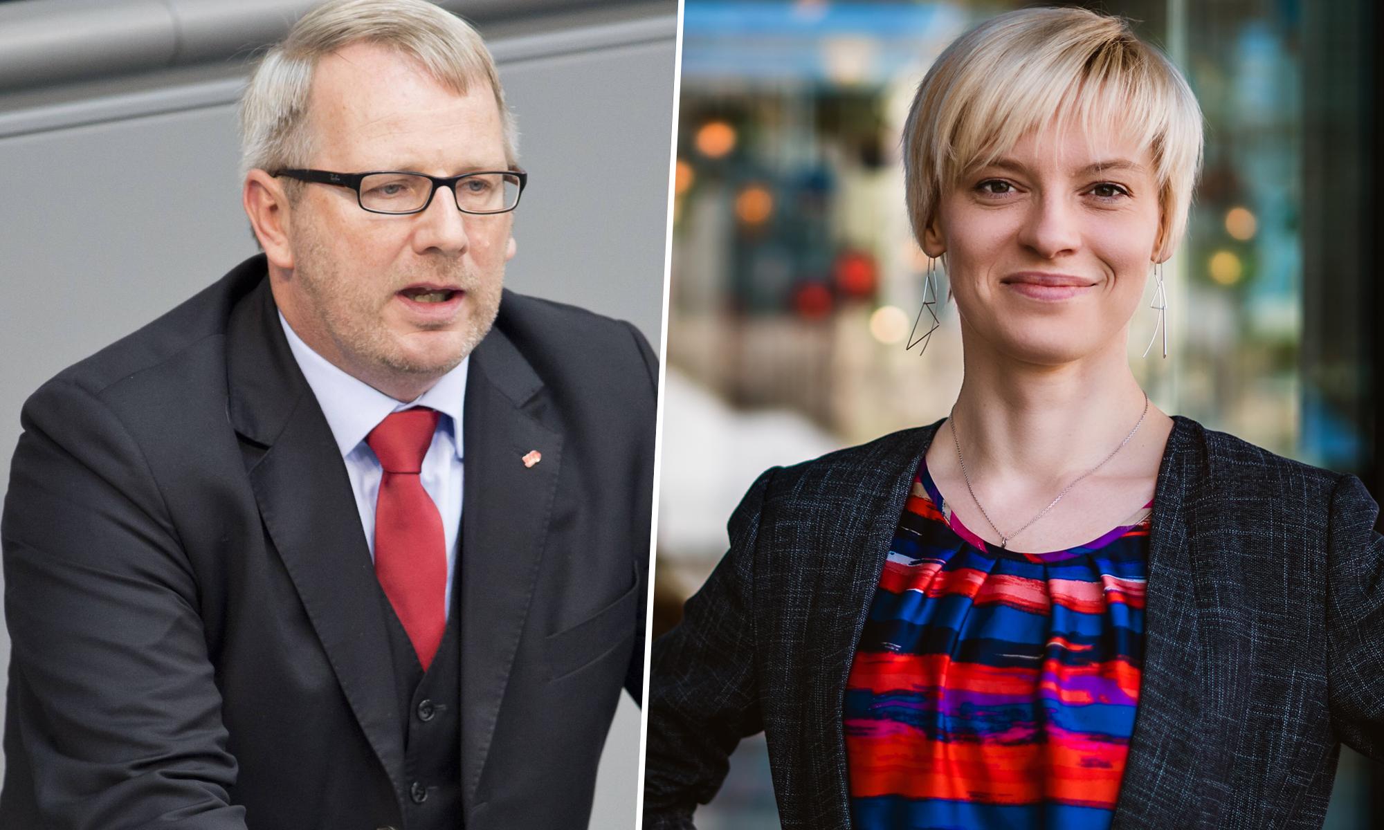 Johannes Kahrs (SPD) und Olga Petersen (AfD)