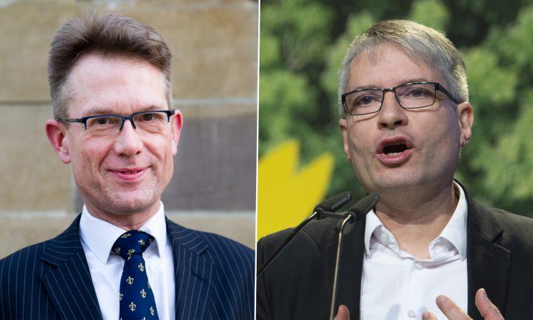 Gunnar Beck (AfD, l.) und Sven Giegold (Grüne)