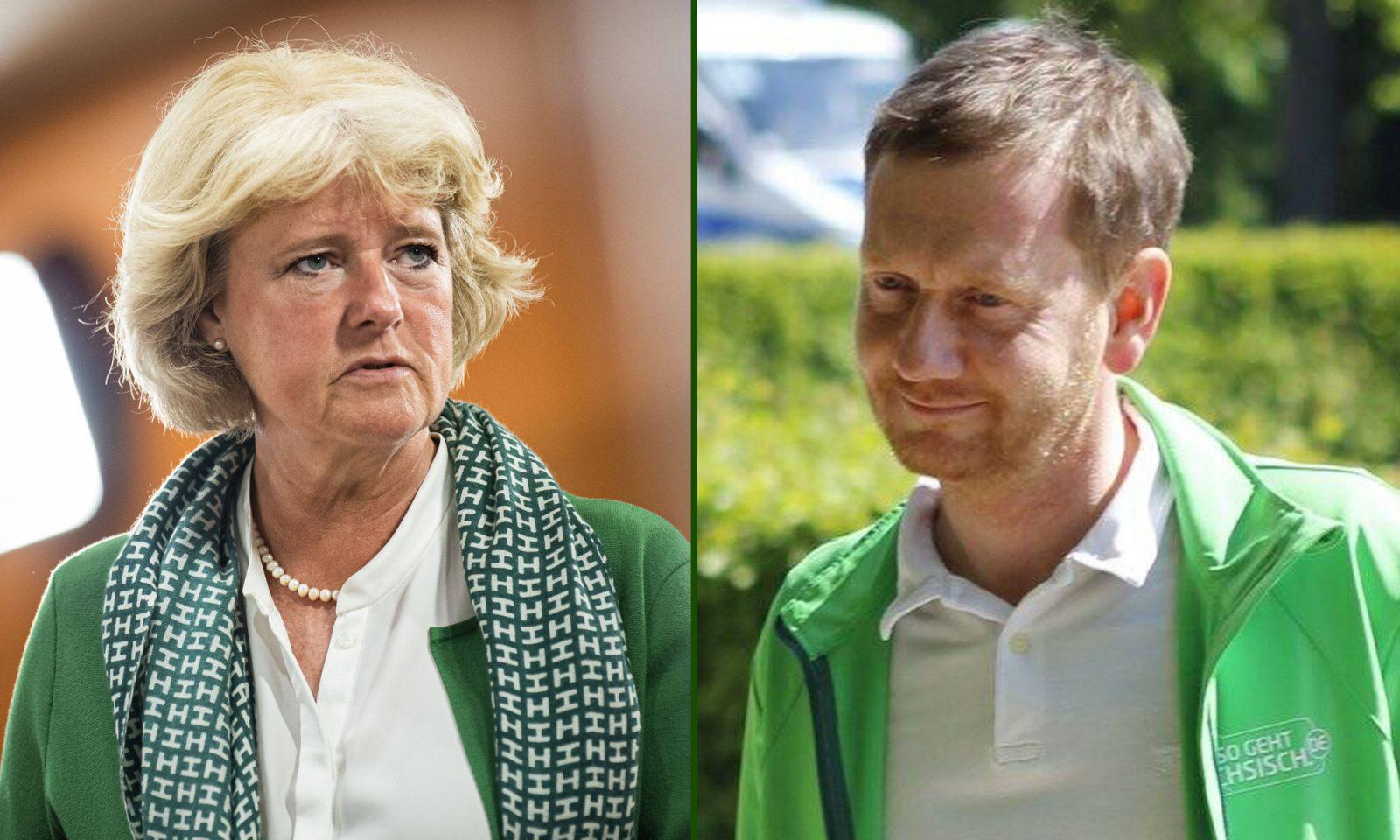 Monika Grütters und Michael Kretschmer (beide CDU)