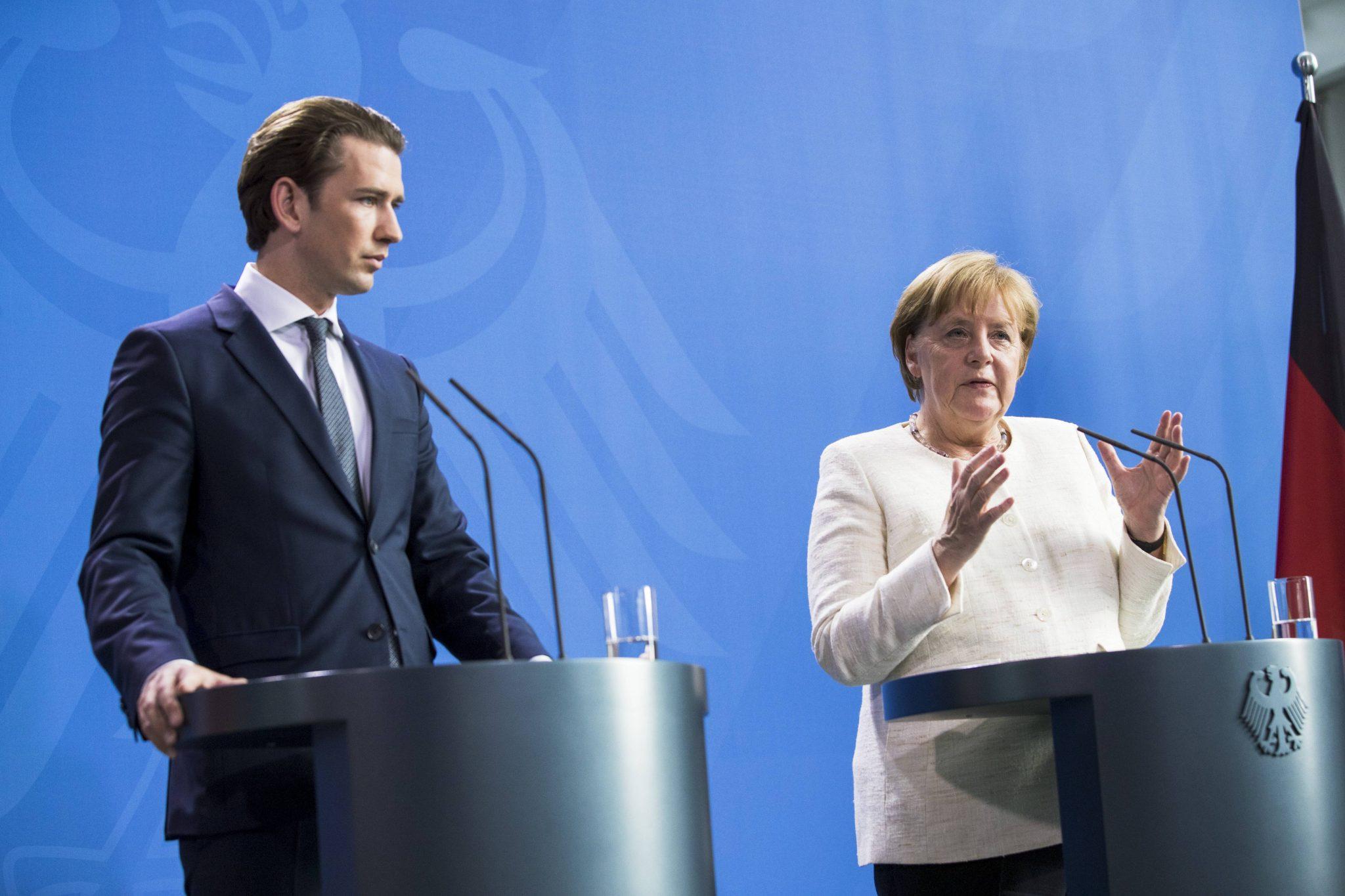 Sebastian Kurz (ÖVP) und Angela Merkel (CDU)