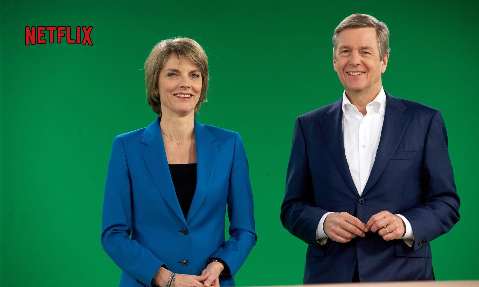ZDF-Moderatoren Moderatoren Marietta Slomka und Claus Kleber