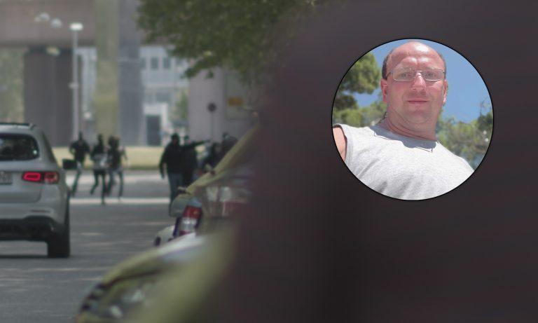 Mutmaßliche Täter in Stuttgart vor dem Angriff, Opfer Ingo Tuth Fotos: Simon Kaupert, Ingo Tuth, JF-Montage