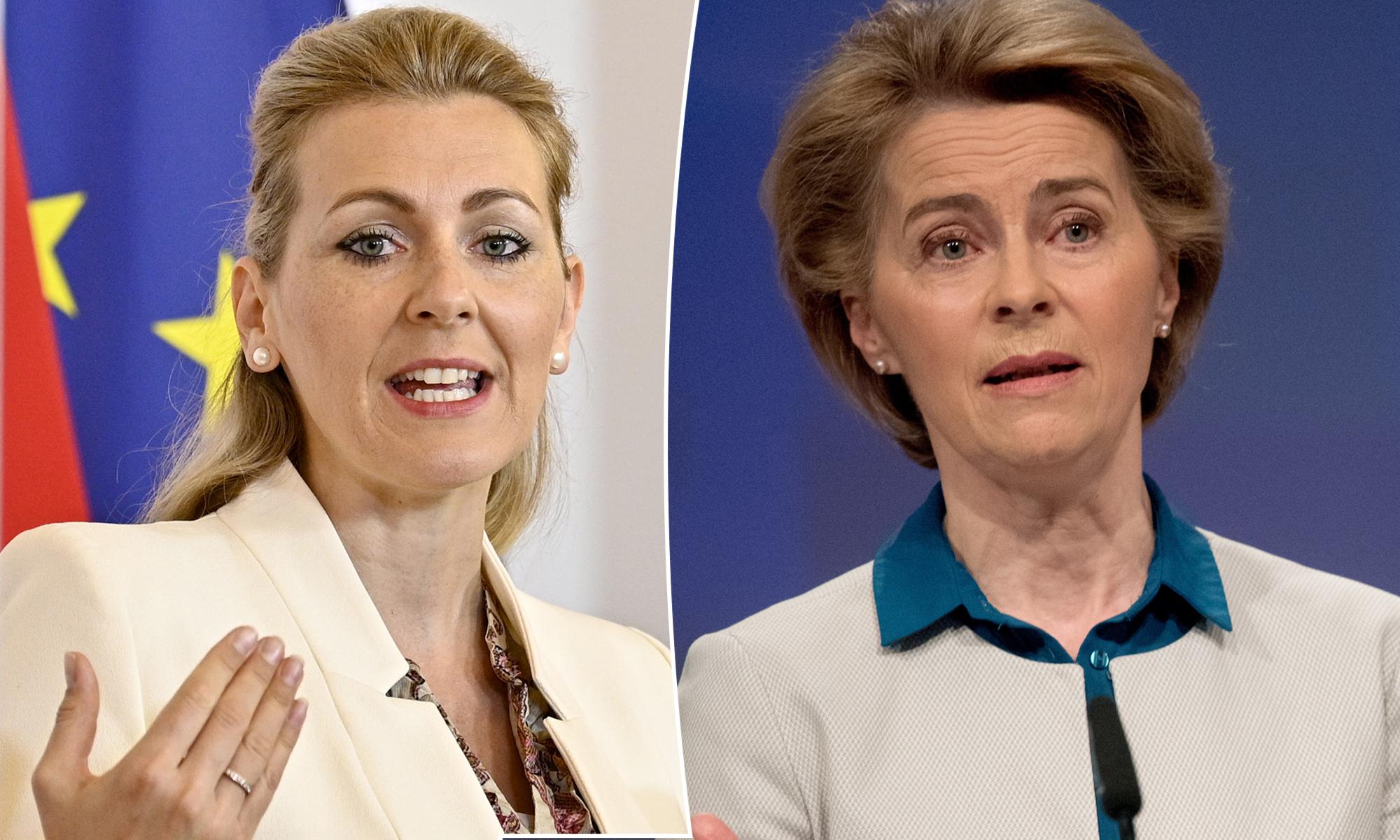 Christine Aschbacher (ÖVP, l.) und Ursula von der Leyen (CDU)