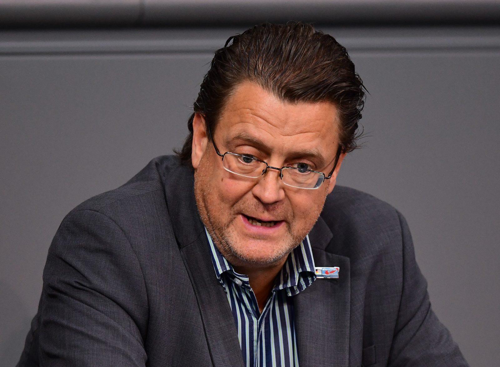Der AfD-Bundestagsabgeordnete Stephan Brandner attackiert die Regierung für die Kooperation mit der Amadeu Antonio Stiftung Foto: picture alliance/Soeren Stache/dpa-Zentralbild/dpa