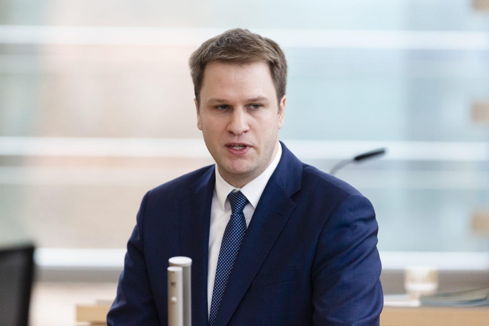 Der FDP-Fraktionsvorsitzende im Landtag von Schleswig-Holstein, Christopher Vogt Foto: picture alliance/Frank Molter/dpa