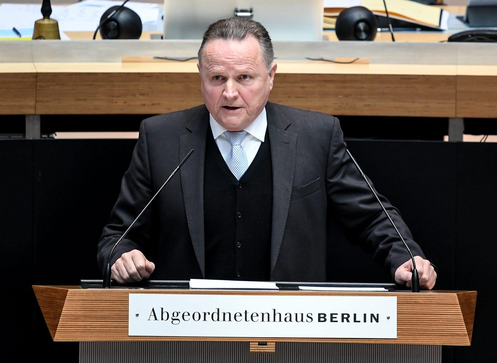 Der Vorsitzende der AfD-Fraktion im Berliner Abgeordnetenhaus, Georg Pazderski, plädiert für eine Stärkung der Bundeswehr Foto: picture alliance/Britta Pedersen/dpa-Zentralbild/dpa