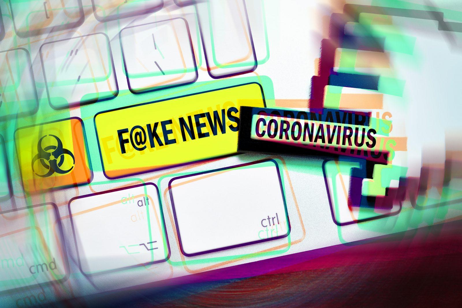 Laut der Studie stieg die Sorge vor der Verbreitung von Fake News während der Corona-Krise (Symbolbild) Foto: picture alliance/Bildagentur-online