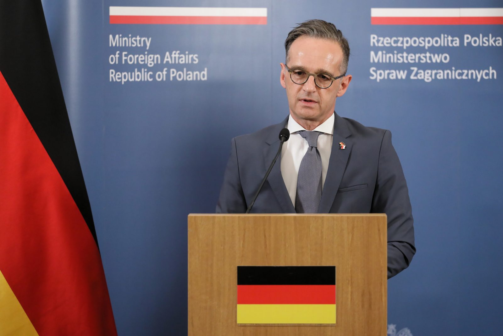 Bundesaußenminister Heiko Maas (SPD) warnt vor ausländerfeindlichen Schuldzuweisungen in der Corona-Krise Foto: picture alliance / PAP