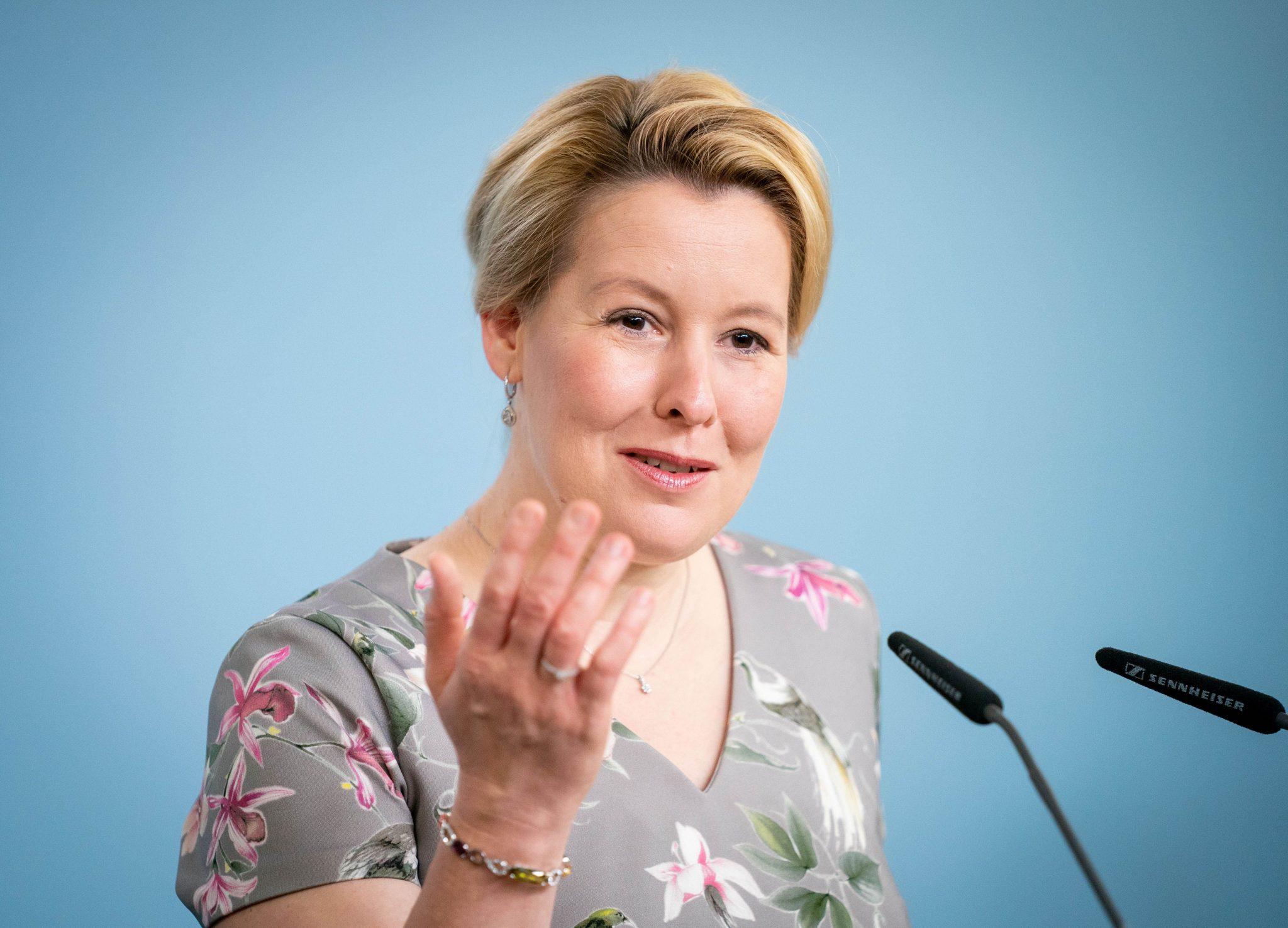 Bundesfamilienministerin Franziska Giffey (SPD) verlangt mehr Frauen in Führungspositionen von Unternehmen Foto: picture alliance/Kay Nietfeld/dpa